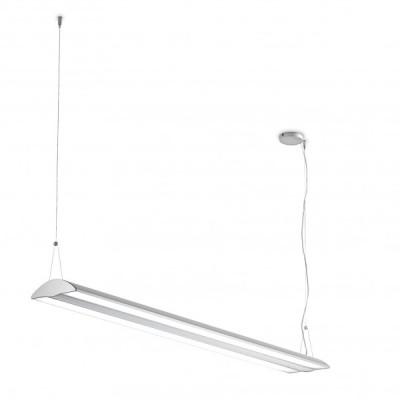 Traddel - Pendant Lamp - Reverse Down S - Opal diffuser light emission - Anodized aluminium semi opaque - LS-LL-56215