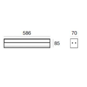 Traddel - Profil - Linear S - Wall/Ceiling lamp