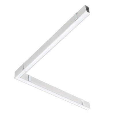 Traddel - Profilo incasso totale - Mini Outline FLUO - 90° curve ceiline/ceiling sx - White RAL 9010 - LS-LL-62094