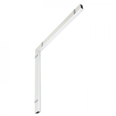 Traddel - Profilo incasso totale - Mini Outline FLUO - 90° curve ceiling/wall - White RAL 9010 - LS-LL-62154