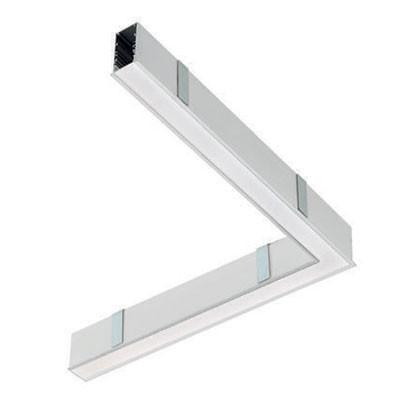 Traddel - Profilo incasso totale - Mini Outline LED - 90° curve ceiling/ceiling right