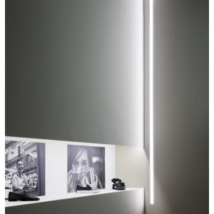 Traddel - Profilo incasso totale - Mini Outline LED - Recessed module 1005mm - White RAL 9003 embossed -  - Warm white - 3000 K - Diffused