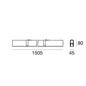 Traddel - Profilo incasso totale - Mini Outline LED - Recessed module 1505mm