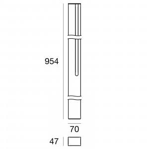 Traddel - Stick - Outdoor Lighting - Stick 1 - Led lighting pole double emission 954mm