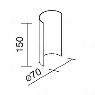Traddel - Traddel accessories - Accessory for 180° shading - Zirconium grey - LS-LL-58675