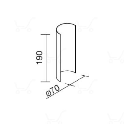 Traddel - Traddel accessories - Accessory for 180° shading - Zirconium grey - LS-LL-58685
