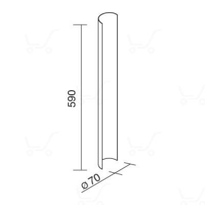 Traddel - Traddel accessories - Accessory for 180° shading - Zirconium grey - LS-LL-58695