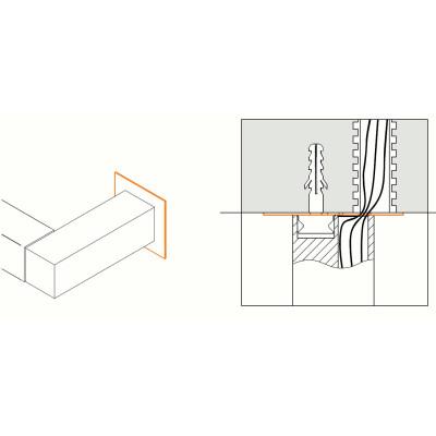 Traddel - Traddel accessories - Bracket for easier installation on masonry walls