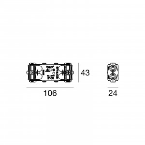 Traddel - Traddel accessories - Resined watertight juntion-kit IP68