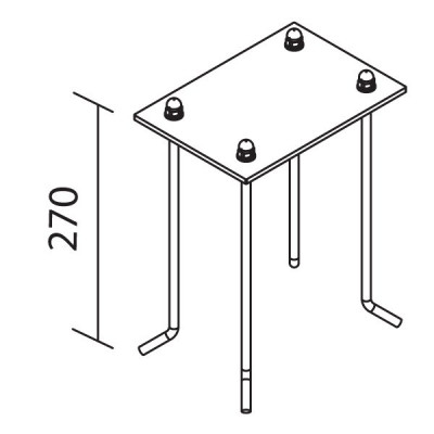 Traddel - Traddel accessories - Stainless steel log bolts with position template - None - LS-LL-53890