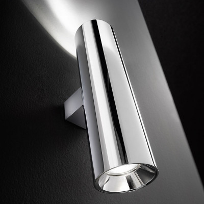 Traddel - Up/down emission sconce - Plik round - Wall lamp up/down emission - Chrome - LS-LL-59453