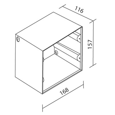 Traddel - Wall housing and outercasing - Outercasing for Insert Glass L - None - LS-LL-52860