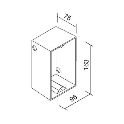 Traddel - Wall housing and outercasing - Outercasing for Insert Glass - None - LS-LL-52810