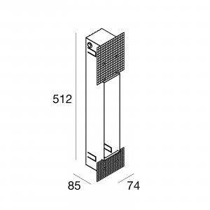 Traddel - Wall housing and outercasing - Outercasing for Wall model h. 510