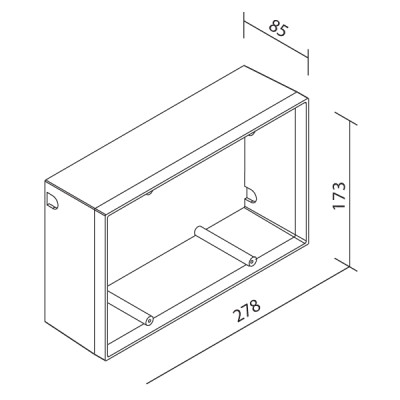 Traddel - Wall housing and outercasing - Outercasing Insert