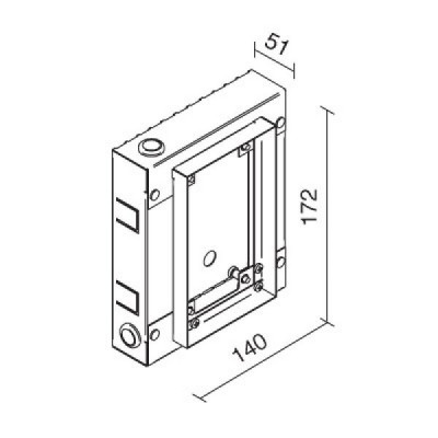 Traddel - Wall housing and outercasing - Wall housing for article 60920 - None - LS-LL-61270