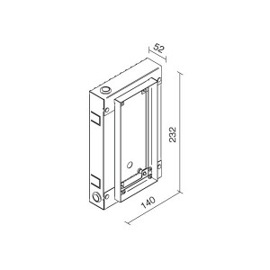 Traddel - Wall housing and outercasing - Wall housing for article 60930