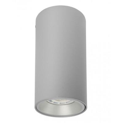 Traddel - Wall or ceiling light - Plik - Ceiling cilindric lamp - Aluminium grey - LS-LL-59435