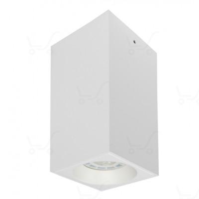Traddel - Wall or ceiling light - Plik - Square ceiling lamp - White RAL 9003 embossed - LS-LL-59404
