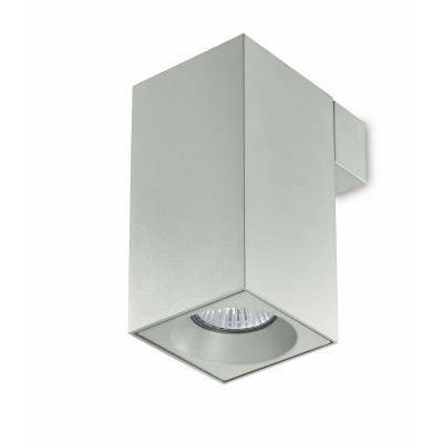 Traddel - Wall or ceiling light - Plik square S - Wall lamp - Aluminium grey - LS-SK-59415
