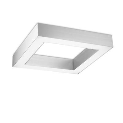 Traddel - Wall or ceiling light - Profil C Complete element square - Ceiling light - Anodized aluminium semi opaque - LS-LL-56155