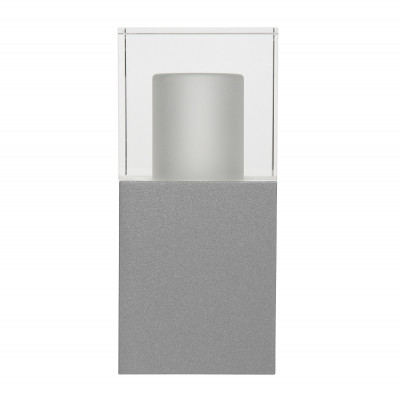 Traddel - Wall or ceiling outdoor lamp - I-Cube - Outdoor wall/ceiling/ground lamp - Zirconium grey -  - Warm white - 3000 K - Diffused