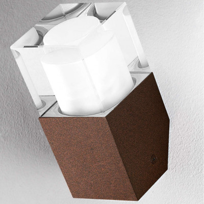 Traddel - Wall or ceiling outdoor lamp - I-Cube - Wall or ceiling light - Cor-ten steel -  - Warm white - 3000 K - Diffused