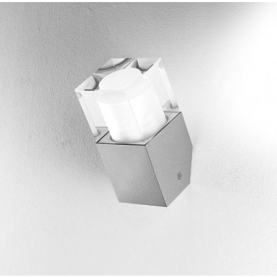 Traddel - Wall or ceiling outdoor lamp - I-Cube - Wall or ceiling light - Zirconium grey -  - Warm white - 3000 K - Diffused