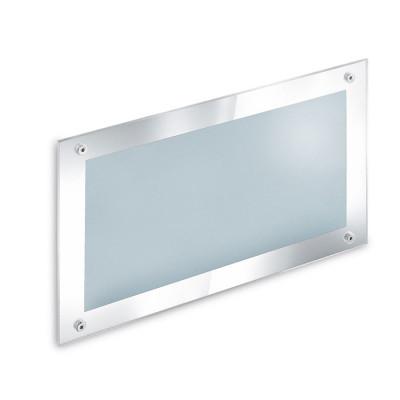 Traddel - Wall or ceiling outdoor lamp - Insert Glass - Recessed lamp M - Chrome - LS-LL-52665