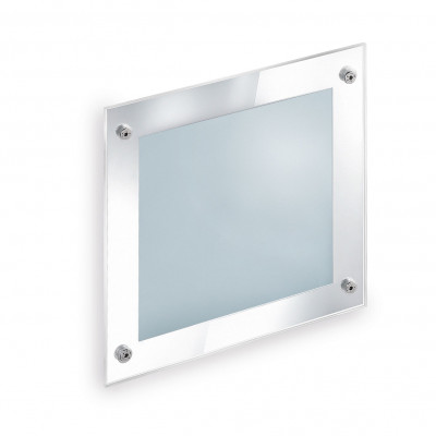 Traddel - Wall or ceiling outdoor lamp - Insert Glass - Recessed lamp S - Chrome - LS-SK-52655