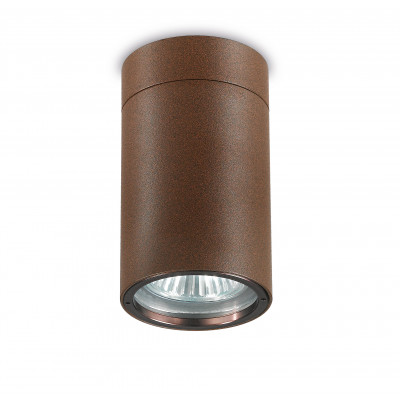 Traddel - Wall or ceiling outdoor lamp - Vision 2 - Ceiling spotlight M - Cor-ten steel - LS-LL-51496