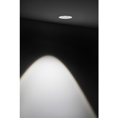 Traddel - Wall or ceiling recessed lamp - Gypsum - Ceiling lamp round optic S