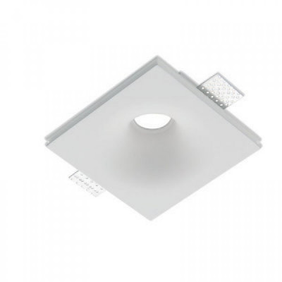 Traddel - Wall or ceiling recessed lamp - Gypsum - Ceiling lamp round optic S - Gypsum - LS-LL-60980