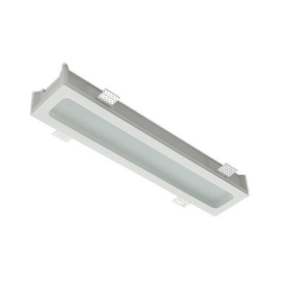 Traddel - Wall or ceiling recessed lamp - Gypsum - Ceiling light L