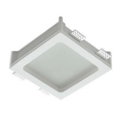 Traddel - Wall or ceiling recessed lamp - Gypsum - Ceiling light M - Gypsum - LS-LL-60850