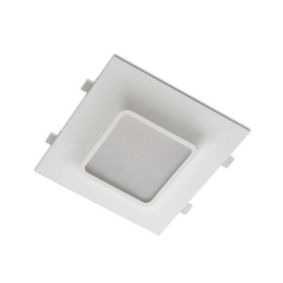 Traddel - Wall or ceiling recessed lamp - Gypsum - Ceiling light square optic - Gypsum - LS-LL-60960