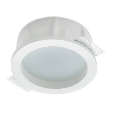 Traddel - Wall or ceiling recessed lamp - Gypsum - Diffused optic recessed lamp - Gypsum - LS-LL-60870