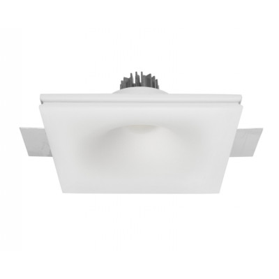 Traddel - Wall or ceiling recessed lamp - Gypsum Eye1 FA LED - Gypsum LED-Recessed ceiling spotlight - Gypsum -  - Warm white - 3000 K - 70°