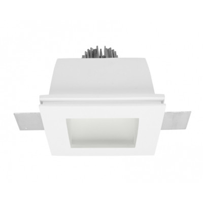 Traddel - Wall or ceiling recessed lamp - Gypsum - Square recessed lamp - Gypsum -  - Warm white - 3000 K - 70°