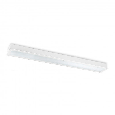 Traddel - Wall or ceiling recessed lamp - Millennium L - Recessed ceiling light rectangular - White RAL 9010 - LS-LL-51994