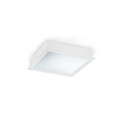 Traddel - Wall or ceiling recessed lamp - Millennium S - Recessed ceiling light square - White RAL 9010 - LS-LL-51964
