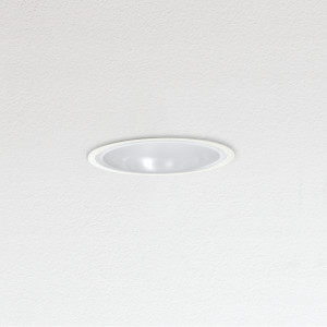 Traddel - Wall or ceiling recessed lamp - Oblò - Recessed ceiling light round polycarbonate diffuser - White RAL 9010 - LS-SK-54384
