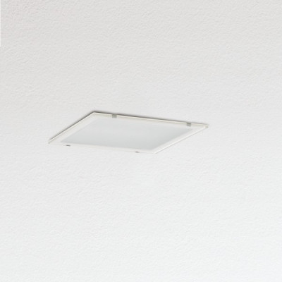 Traddel - Wall or ceiling recessed lamp - Oblò - Recessed ceiling light silk-screen glass diffuser - White RAL 9010 - LS-SK-54574