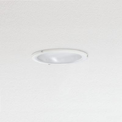 Traddel - Wall or ceiling recessed lamp - Oblò - Recessed round ceiling light silk-screen glass diffuser - White RAL 9010 - LS-SK-54434