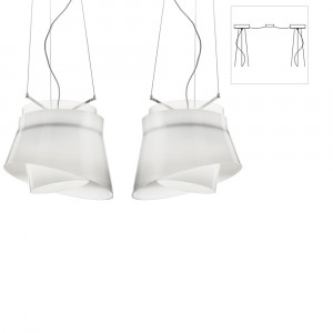 Vistosi - Aria&Nodo - Aria SP D2 - Two lights chandelier with decentralized attachment