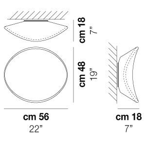 Vistosi -  - Balance AP M LED - Design wall light