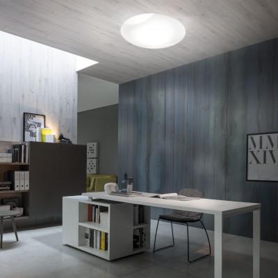 Vistosi - Lio - Lio PL 50 LED - Ceiling light minimal - White - LS-VI-PPLIO0017J13E - Super warm - 2700 K - Diffused