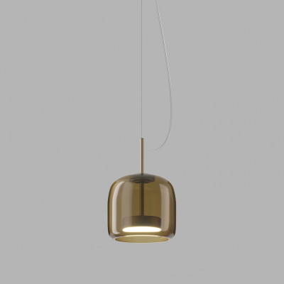 Vistosi - Retrò - Jube SP 1 S D1 - One light chandelier with decentralized attachment - Brown - LS-VI-SPJUBE1PD1TBOS - Warm white - 3000 K - Diffused