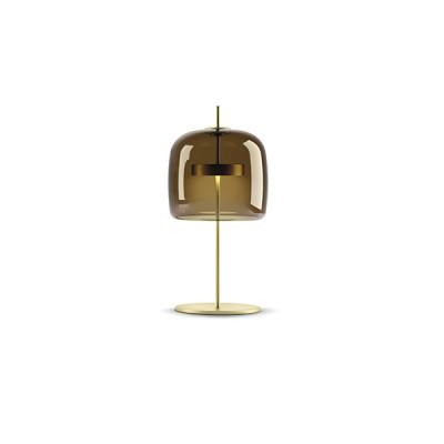 Vistosi - Retrò - Jube TL L LED - Blow glass table lamp - Coffee - LS-VI-LTJUBEGTBOS