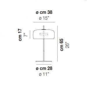 Vistosi - Retrò - Jube TL L LED - Blow glass table lamp